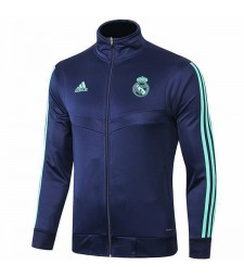 Real Madrid Royal Blue Jacket Green Logo 2019-2020