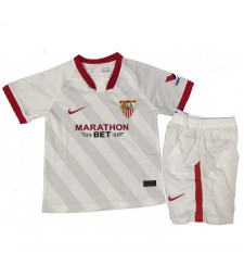 Sevilla Home Soccer Jerseys Kids Kit Football Shirts Uniforms 2020-2021