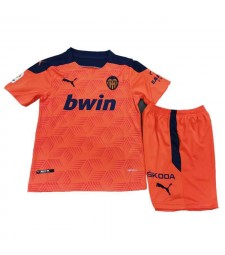 Valencia Away Soccer Jerseys Kids Kit Football Shirts Uniforms 2020-2021