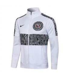 Americas Club White High Neck Soccer Jacket Pants Mens Football Tracksuit Uniforms 2021-2022