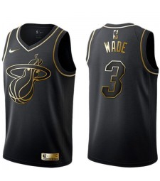 2019 All Star Game Mens Miami Heat 3 Dwyane Wade Basketball Nba Jersey MVP Black