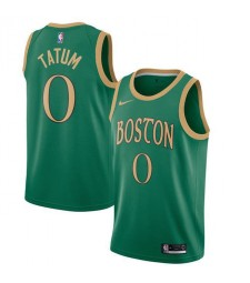 Boston Celtics 0# TATUM Green Swingman Basketball Jersey 2019-2020