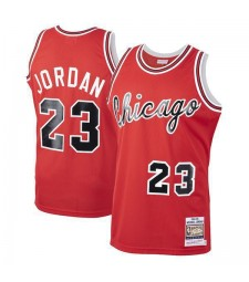 Chicago Bulls Michael Jordan 23# Mitchell&Ness Red Hardwood Classics Rookie Authentic Jersey 1984-1985