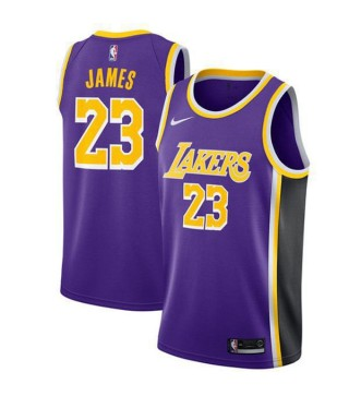 the best attitude 1b0dc 15221 Los Angeles Lakers 23# LeBron James Jersey Purple 2018/2019 ...