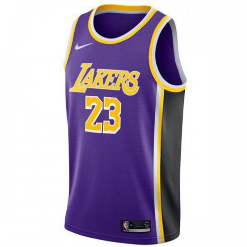 the best attitude a4cb5 0fbcb Los Angeles Lakers 23# LeBron James Jersey Purple 2018/2019 ...