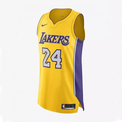 new arrival 7ce24 0ef2c Los Angeles Lakers 24# Kobe Bryant Jersey Yellow 2018/2019