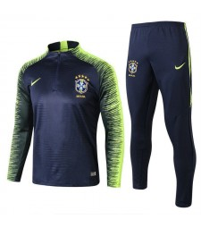 2018 World Cup Brazil Printed Sleeve Royal Blue Tracksuit