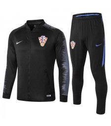 Croatia Black Printed Sleeve Tracksuit 2018/2019