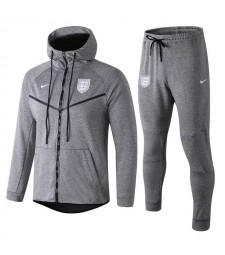 England Gray Tracksuit Hoodie 2018/2019
