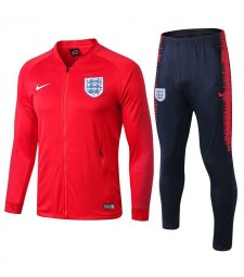 England Red Printed Sleeve Tracksuit Jacket Pant 2018/2019