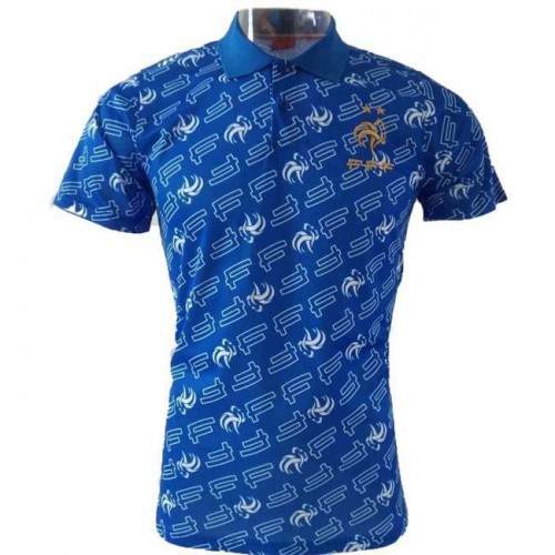 new arrival 05090 8fd90 France Blue Pattern Polo 2019