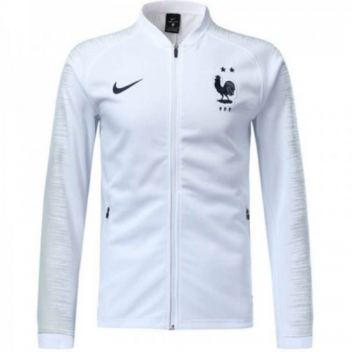 official photos f6947 34546 France White Two Star Jacket 2018/2019