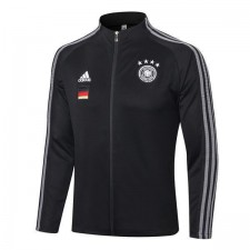 Germany Black Long Zipper Mens Training Soccer Jacket Football Jersey 2020-2021