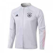 Germany White Long Zipper Mens Training Soccer Jacket Football Jersey 2020-2021