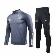 Germany Gray Zipper Soccer Tracksuit VW Logo 2019-2020