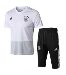Germany Men White Short Training Suit Kit 2018/2019