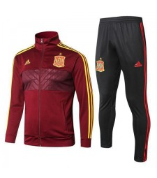 Spain Red Soccer Tracksuit 2018/2019