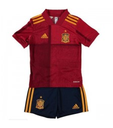 Spain Home Kids Football Kit Euro 2020 Soccer Jersey