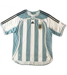 Argentina Retro Home Soccer Jerseys Mens Football Shirts Uniforms 2006