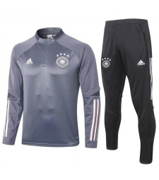 Germany Dark Gray Half Zip Mens Training Soccer Tracksuit 2020-2021