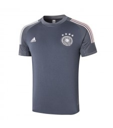 Germany Blue Short Sleeve Training Soccer Jerseys Mens Football Shirts Uniforms 2020-2021