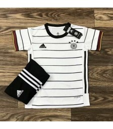 Germany Home Soccer Jersey Kids Football Kit Youth Uniforms 2020