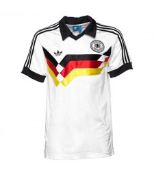 Germany Retro Home Soccer Jersey Mens Football Shirt 1988