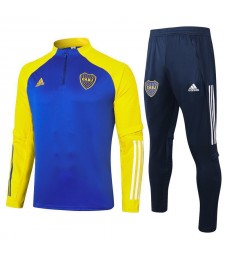 Boca Half Zip Royal Blue Yellow Mens Training Soccer Tracksuit 2020-2021