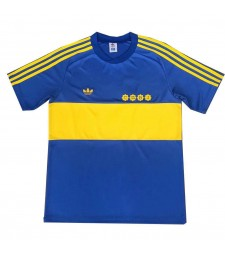 Boca Juniors Retro Home Soccer Jerseys Mens Football Shirts Uniforms 1981