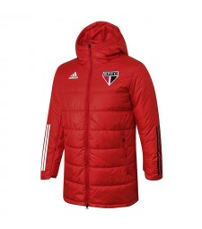 Sao Paulo Soccer Winter Jacket Red Football Cotton Coat 2020-2021