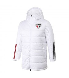 Sao Paulo Soccer Winter Jacket White Football Cotton Coat 2020-2021