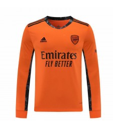 Arsenal Goalkeeper Orange Long Sleeve Soccer Jersey Match Mens Sportwear Football Shirt 2020-2021