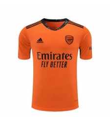 Arsenal Goalkeeper Orange Soccer Jersey Match Mens Sportwear Football Shirt 2020-2021