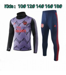 Arsenal Kids Purple High Neck Tracksuit 2019-2020