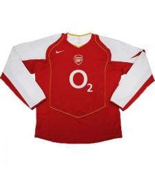 Arsenal Home Retro Jersey Mens First Soccer Sportwear Football Long Sleeves 2004-2005