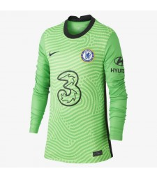 Chelsea Green Long Sleeve Goalkeeper Soccer Jersey Football Uniforms 2020-2021