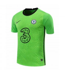 Chelsea Green Goalkeeper Soccer Jersey Football Uniforms 2020-2021