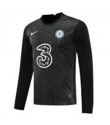 Chelsea Black Long Sleeve Goalkeeper Soccer Jersey Football Uniforms 2020-2021