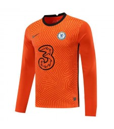 Chelsea Orange Long Sleeve Goalkeeper Soccer Jersey Football Uniforms 2020-2021