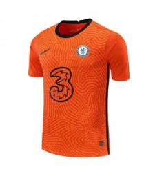 Chelsea Orange Goalkeeper Soccer Jersey Football Uniforms 2020-2021