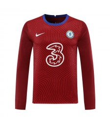 Chelsea Red Long Sleeve Goalkeeper Soccer Jersey Football Uniforms 2020-2021