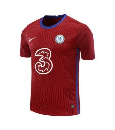 Chelsea Red Goalkeeper Soccer Jersey Football Uniforms 2020-2021