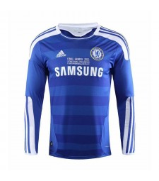 Chelsea UCL Final Retro Long Sleeve Soccer Jerseys Mens Football Shirts 2011-2012
