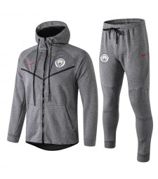 Manchester City Gray Tracksuit Hoodie 2018/2019