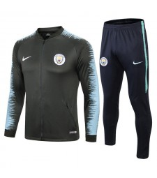 Manchester City Green Printed Sleeve Tracksuit 2018/2019