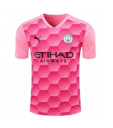 Manchester City Pink Goalkeeper Soccer Jersey Football Shirts Uniforms 2020-2021