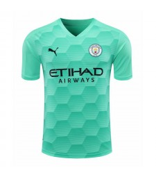 Manchester City Sky Blue Goalkeeper Soccer Jersey Football Shirts Uniforms 2020-2021
