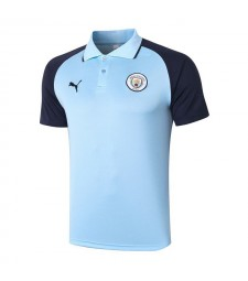Polo de football Manchester City bleu clair 2020-2021