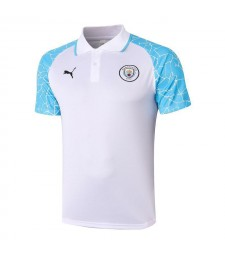 Manchester City White Soccer Jerseys Football Polo  2020-2021