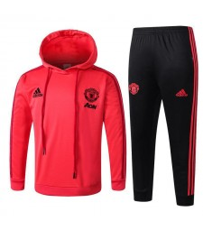 Manchester United Red Kids Tracksuit Hoodie 2018/2019